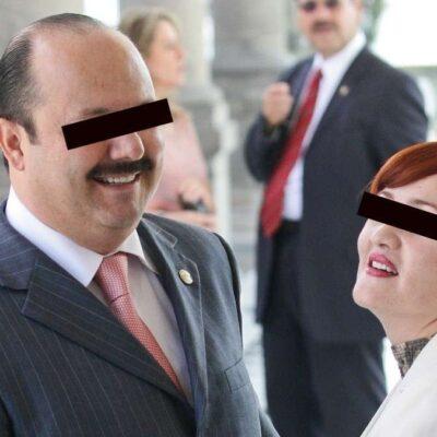 Esposa de César Duarte tramita amparo para evitar ser detenida y extraditada de los EU