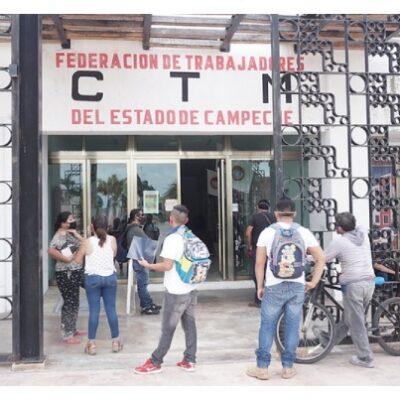 Campechanos buscan emplearse en obras del Tren Maya a través de la CTM local