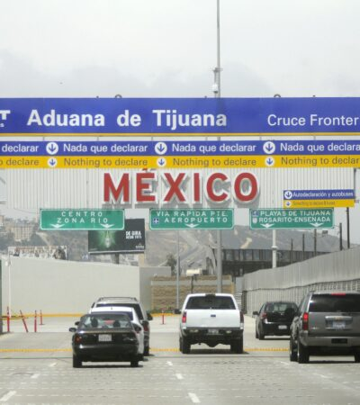 Decomisa el SAT 2 millones 672 mil dólares en cruce fronterizo 'El Chaparral' de Tijuana