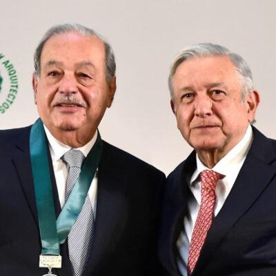 Carlos Slim, y 10 empresarios más, acompañarán a AMLO en cena con Trump