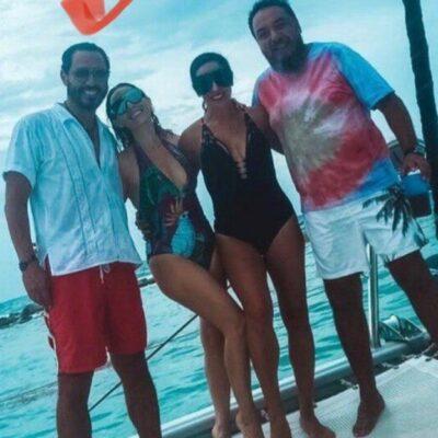 """""""NO TE PREOCUPES, SÉ FELIZ"""": En plena pandemia, funcionaria y senador yucateco son sorprendidos disfrutando del mar sin preocupaciones"""