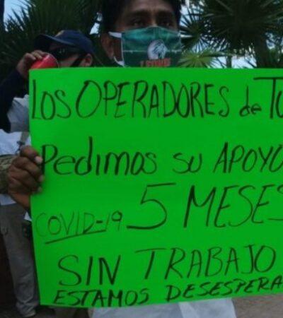 """""""ESTAMOS DESESPERADOS"""": Fotos de políticos yucatecos disfrutando en las playas desencadena protesta en Mérida de operadores turísticos"""