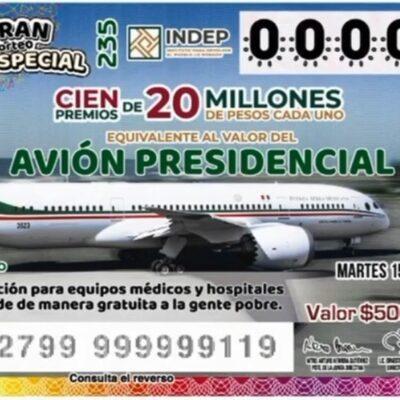Sin venderse 74% de 'cachitos' para sorteo del avión presidencial; México adeuda casi 2 mil mdp por arrendamiento