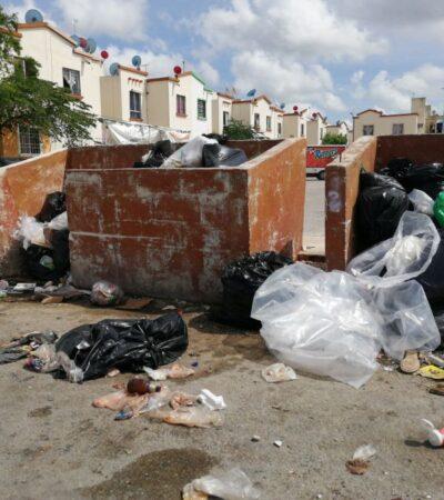 Documentan los días que concesionaria no presta el servicio de recolección de basura para proceder jurídicamente en Cancún