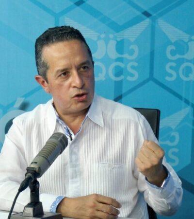 Afirma Carlos Joaquín que no hay confrontación con la Federación por regresar a QR al semáforo rojo