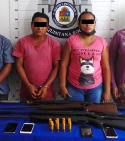 ¿CACERÍA URBANA?: Tras persecución, agarran a grupo armado con rifles en Cancún
