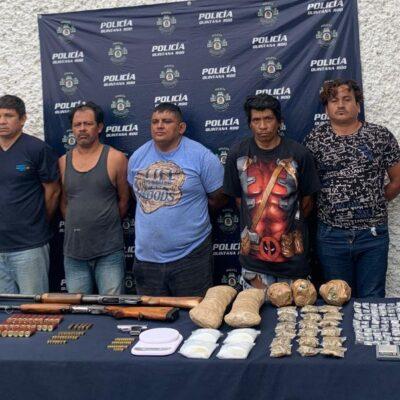 LOS AGARRAN CON ARMAS LARGAS Y DROGAS: Desmantelan célula de 'Los Pelones' en Cancún