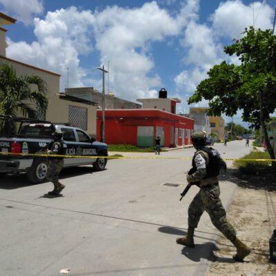 OPERATIVO POLICIACO EN RANCHO VIEJO: Detienen a dos sospechosos, luego de presuntamente balear a mujer en la zona continental de Isla Mujeres