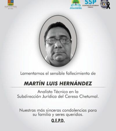 Muere otro policía de Quintana Roo por Covid-19