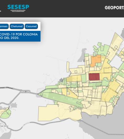 CARTOGRAFÍA DEL VIRUS: Brindan mapeo de COVID-19 por colonias en Quintana Roo
