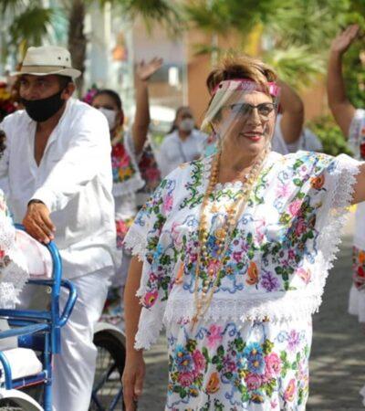 Encabeza Laura Beristain festejos a la virgen del Carmen, pese a estar prohibidas las reuniones y aglomeraciones en vía pública