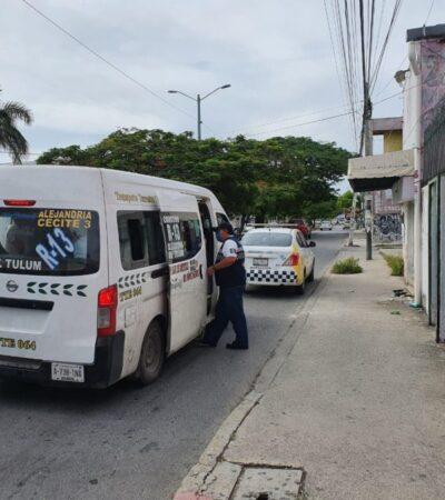 Revela Imoveqroo que sólo han multado a 16 transportistas en Cancún