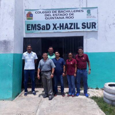 Reprochan ejidatarios a José Esquivel por incumplir compromiso de construir un bachillerato en X-Hazil sur