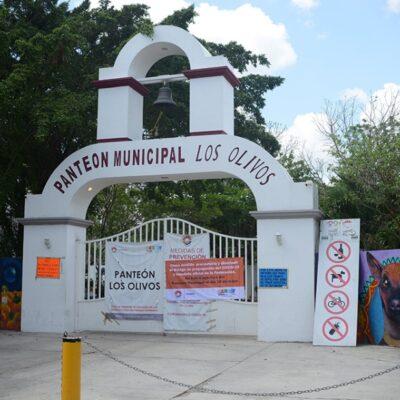 """Panteón """"Los Olivos"""" de Cancún sigue cerrado como medida sanitaria"""