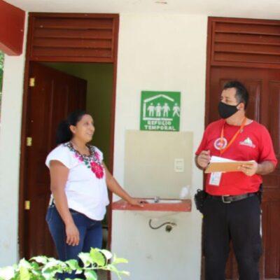 Realiza Protección Civil trabajos de difusión sobre la temporada de huracanes en Puerto Morelos