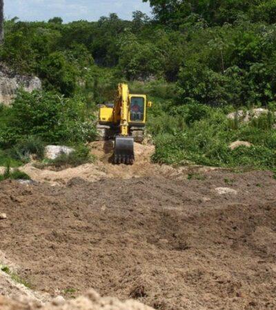 Supervisan autoridades el sitio de transferencia de sargazo en Puerto Morelos