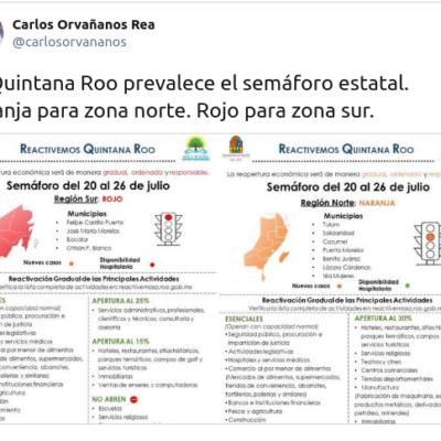 TRUENA QR CONTRA SEMÁFORO DE GATELL: Anuncia Gobernador que prevalecerá el semáforo estatal por encima de indicaciones del gobierno federal
