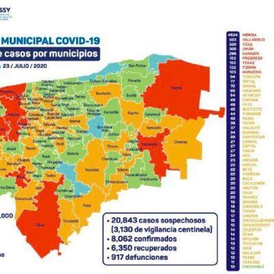 SUPERA YUCATÁN LOS 8 MIL CONTAGIOS POR COVID-19: Con semáforo en color naranja, suman 917 muertos