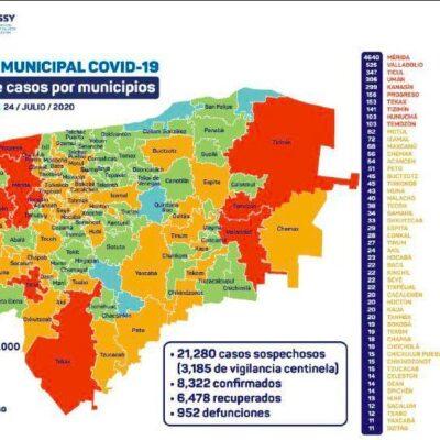 REPORTA YUCATÁN 260 CONTAGIOS Y 35 MUERTES EN 24 HORAS: Tres hospitales más, a punto de reportar ocupación máxima por COVID-19