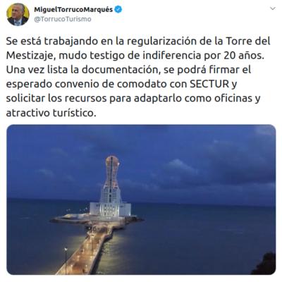 ACTUALIZAN PROMESA DE CAMPAÑA: Reitera Torruco intención de llevar Sectur a Chetumal