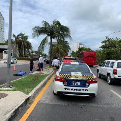 MAÑANA FATÍDICA EN ZONA HOTELERA: Muere motociclista tras accidente de tránsito en Cancún