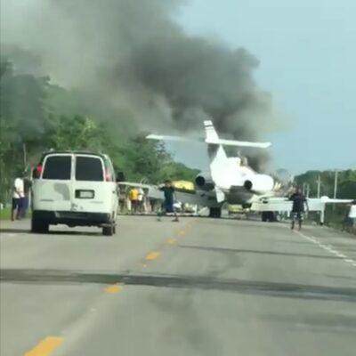 """""""MIENTRAS YO DORMÍA SE ESTRELLÓ LA COLOMBIANA"""": Morelense hace corrido de aterrizaje de narco aeronave en el sur de Quintana Roo"""