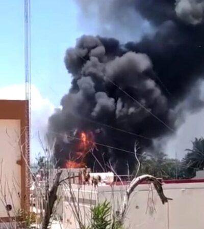 MOVILIZACIÓN POR SINIESTRO: Reportan incendio en estación de la CFE en la Zona Hotelera de Cancún