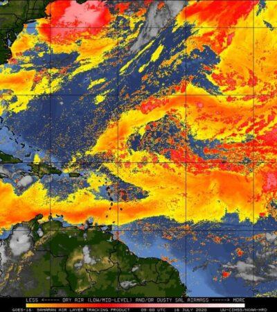 PRONÓSTICO DEL CLIMA: Anuncian chubascos ocasióneles aislados en Quintana Roo
