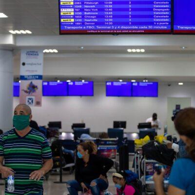 Aeropuerto de Cancún programó 146 vuelos para este 29 de julio