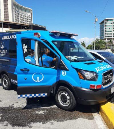 Yucateco choca contra ambulancia en Cancún