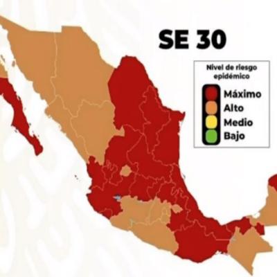 REGRESARÁN QR Y YUCATÁN AL COLOR ROJO: Por alta incidencia en casos de COVID-19, anuncia gobierno federal retroceso en el Semáforo Epidemiológico