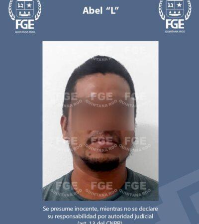 Captura FGE a Abel 'L' imputado por feminicidio en grado de tentativa en el sur de QR