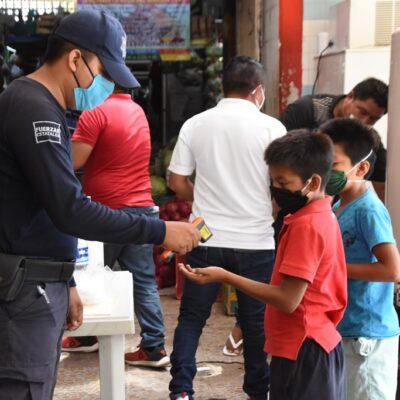 REGRESO A LA 'FEA' NORMALIDAD: Instalan filtro sanitario en Felipe Carrillo Puerto al retornar 'el semáforo rojo'