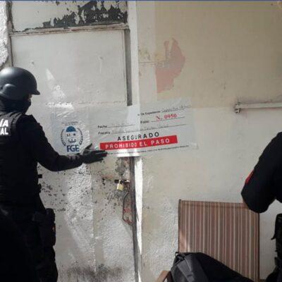 Aseguran drogas, arma y detienen a una persona durante cateo en colonia de Chetumal