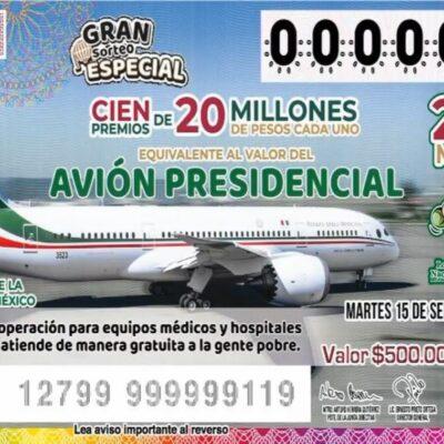 Gobernador de Tabasco compra cien mil pesos en 'cachitos' del avión presidencial… y los va a regalar