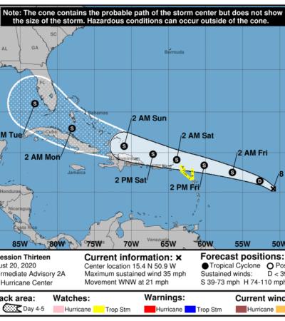 MONITOREO EN EL ATLÁNTICO: Mantienen vigilancia sobre ondas tropicales que podrían evolucionar a ciclones