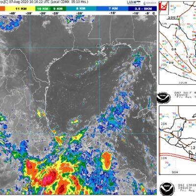 PRONÓSTICO DEL CLIMA: Día caluroso con probabilidades de lluvia en Quintana Roo