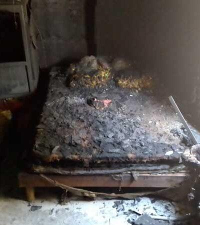 CHIHUAHUA: Padre salva a bebé de cuatro meses del fuego que envolvió a su vivienda