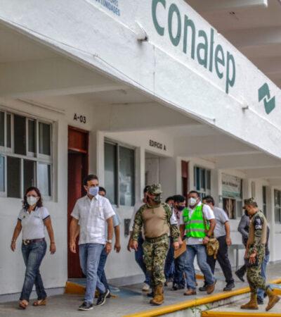 Reconoce Pedro Joaquín la cultura de prevención de la gente de Cozumel ante fenómenos hidrometeorológicos