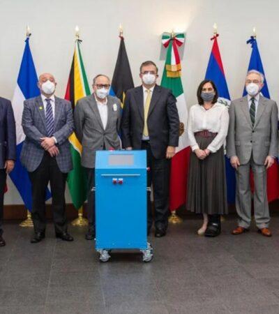 SRE dona ventiladores hechos en México a ocho países del Caribe