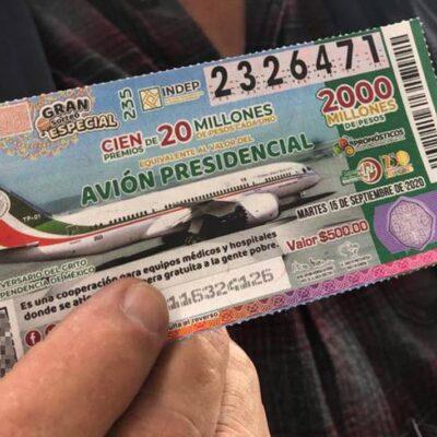 Lotenal ha vendido apenas 33% de los 'cachitos' para el sorteo del avión; hay Plan B si no se agotan