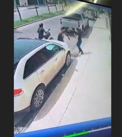 INSEGURIDAD EN LA CAPITAL: Asaltan a punta de pistola a mujer en Chetumal | VIDEO