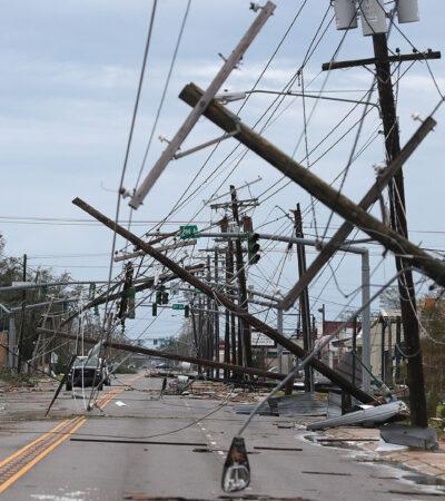 FOTOS: Huracán 'Laura' arrasó Cameron, Louisiana tras tocar tierra durante la madrugada