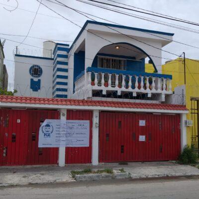 Catean y aseguran casa en la Sm 98 de Cancún