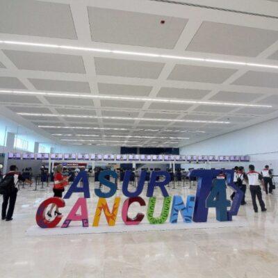 Aeropuerto Internacional de Cancún continúa acercándose a los 200 vuelos