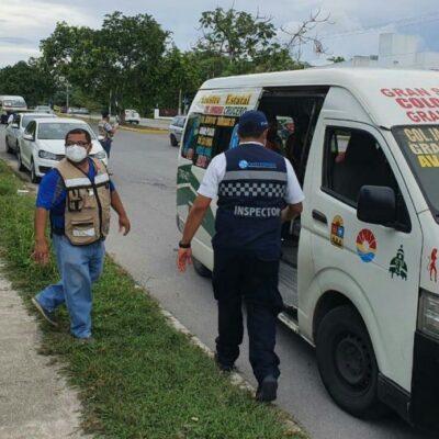 Conductores del transporte público serán detenidos sólo si no usan cubrebocas, aclara director de Tránsito de Cancún
