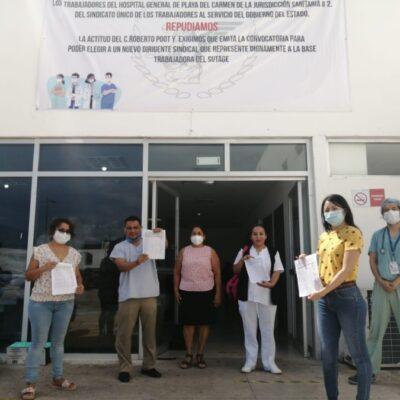 Trabajadores sindicalizados de Playa del Carmen también se unen a exigencia de destitución de Roberto Poot del SUTAGE
