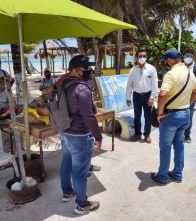 Fiscalización da plazo de una semana para que comerciantes retiren infraestructura del malecón de Mahahual