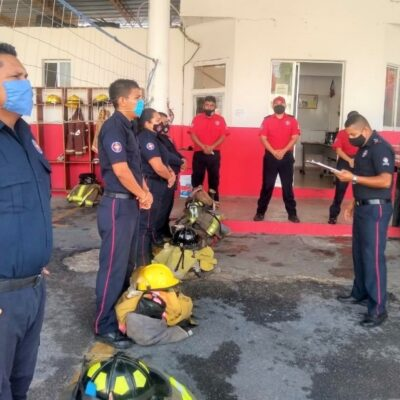 Suman 14 casos de Covid-19 al interior del Cuerpo de Bomberos en Cancún