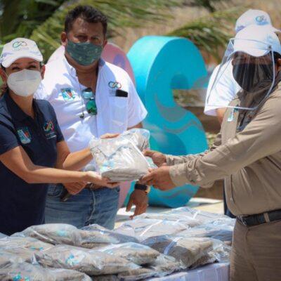 Entregan uniformes a trabajadores de Servicios Públicos de Puerto Morelos